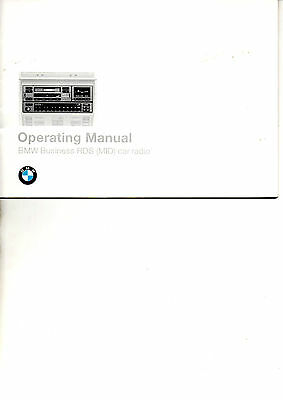 Bmw Business Rds (Mid) Car Radio Manual    - 01 41 9 788 081 English Text 1994