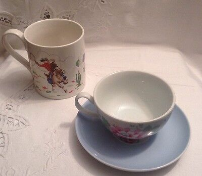 Cath Kidston Cowboy Mug & Floral Cup & Saucer