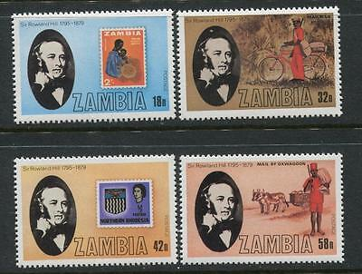 Zambia: 1979 Rowland Hill Death Centenary set of 4 stamps SG296-299 MNH X286