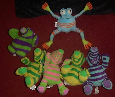 "Fisher Price Collection Of 6"" (Approx) Plush Toys  X 6 Great Lot Check It Out!"