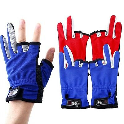 Mitts Sport Three Glove Fingers Wear Breathable Non Slip Fishing Gloves Low