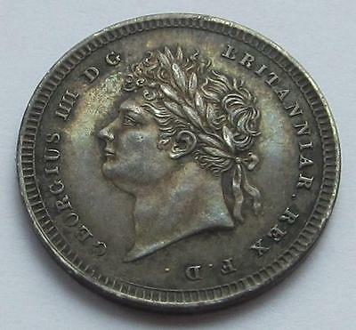 George IV Maundy Twopence dated 1827 - Great collectable coin close Unc