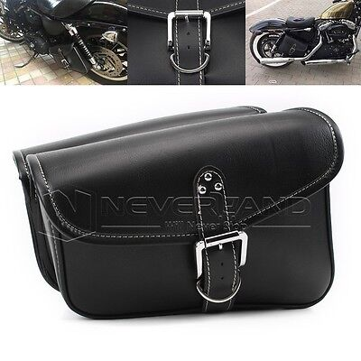 2x Left&Right Motorcycle New Black Saddlebag Luggage Bag PU Leather Fit Harley