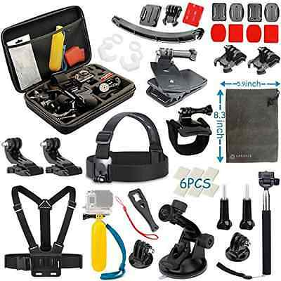 Vanwalk Accessories Kit For Gopro Hero 5 Session Hero 4 3+ 3 2 1 Black Silver