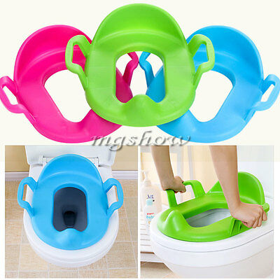 Handles Toilet Seat Potty Cushion Baby Toddler Padded Soft Children Training Kid