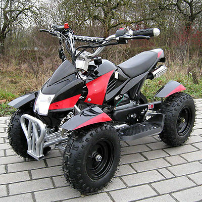 49cc Mini Quad COBRA schwarz-rot Pocket ATV Kinder Benzin Miniquad Kids NEU