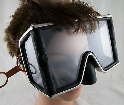 Vintage White Stag Wrap Around Three Window Diving Mask Tempered Glass