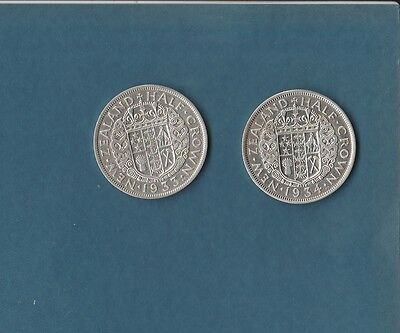 New Zealand Silver Half Crown 1933 1934  #1