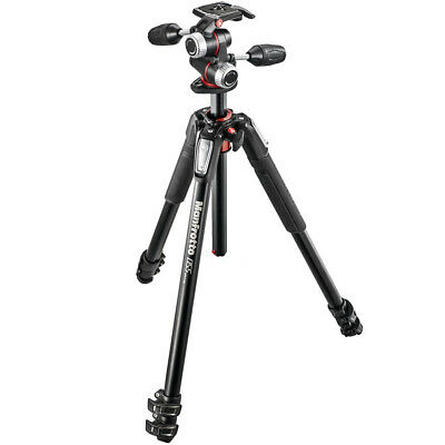 New In Box Manfrotto MK055XPRO3-3W ALU. 3-Section Column Tripod + 3 Way Head