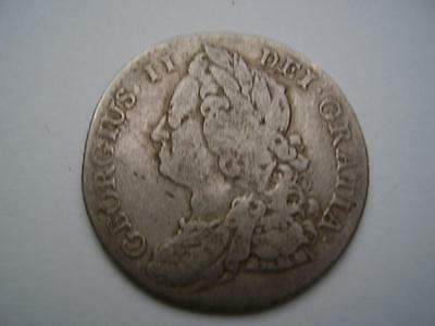 1743 George II Shilling 5.8 grams Very Good Fine