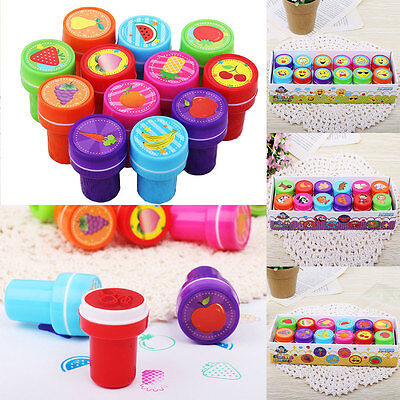 12PCS Self-ink Rubber Stamps Kids Event Supplies Birthday Gift Toys Boy
