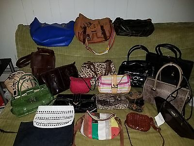 Lot of 21 Designer and Leather Handbags New & Pre Owned