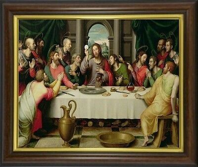 The Last Supper Jesus And Disciples Framed Picture Statues & Candles Listed M10