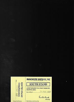 Unused Guest Of Player Ticket-Manchester United Youth V Blackburn Rovers Youth
