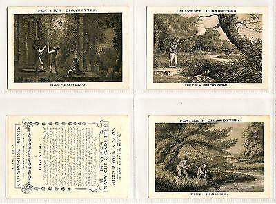 EXTRA LARGE Player, OLD SPORTING PRINTS, Mix of 14x Cards, VG-Good, 1924