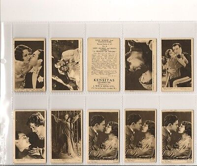 J. Wix, LOVE SCENES FROM FAMOUS FILMS, Series 2, x14 Cards, VGood, 1932