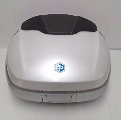 Piaggio Mp3 Abs My14 Top Box Case White Kit Inc Fixing Plate New Rrp £399.99