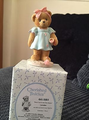 Cherished Teddies. Lorraine. Don't Let It Get You Down