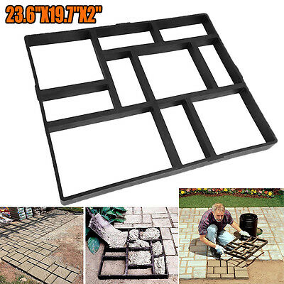 Handmade 10 Grids Garden Pavement Block Paving Concrete Mold Driveway Path Mould