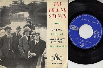 """THE ROLLING STONES - Carol - ultr@r@re Spanish 7"""" EP 45 Spain 1964 UNIQUE"""