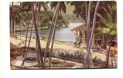 "Ceylon early 20th C. unused colour PC ""View from Temple of Holy Tooth Kandy"""