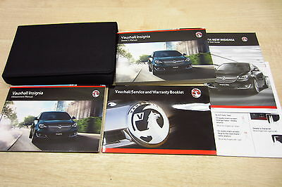 VAUXHALL INSIGNIA 2013-2016 Owners Manual Handbook & EMPTY SERVICE BOOK Wallet