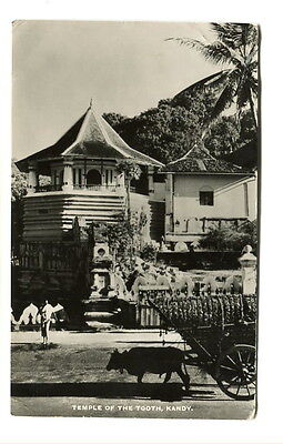 "Ceylon early 20th Cent. unused photo Post Card ""Temple of the Tooth, Kandy"""