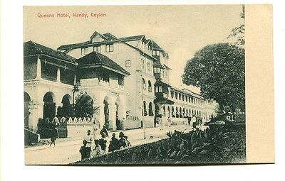 "Ceylon early 20th. Century unused b/w Post Card ""Queens Hotel, Kandy"""