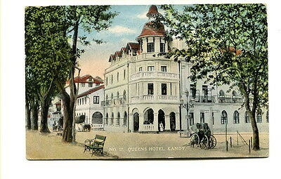 "Ceylon early 20th. Century unused colour Post Card ""No. 17 Queens Hotel, Kandy"""
