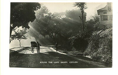 "Ceylon early 20th. Century unused photographic Post Card ""Round the Lake, Kandy"""