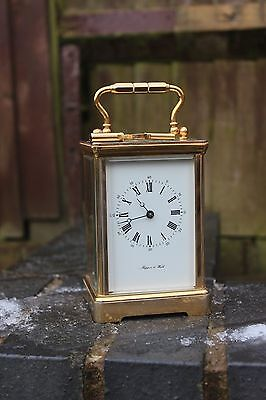 Vintage Mappin & Webb Brass 8 Day Chiming Carriage Clock