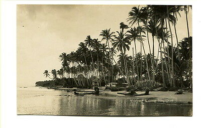 """Singapore early 20th. Century unused photographic Post Card """"Tanjong, Katong"""""""