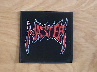 Master - Logo (New) Sew On W-Patch Official Band Merch