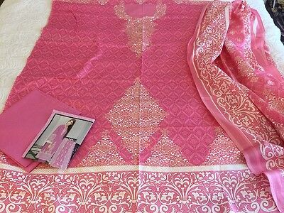 Pakistani designer Classic LAWN COLLECTION UN-STITCHED SHALWAR KAMEEZ SUIT