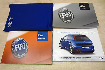FIAT GRANDE PUNTO 2005-2009 Owners Manual Handbook & SERVICE BOOK w/ Wallet Pack