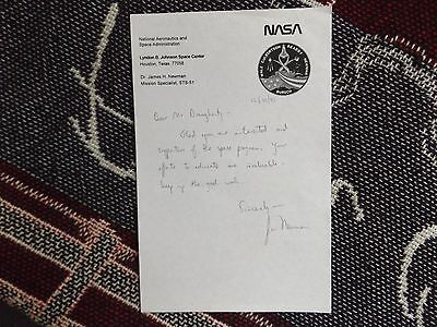 Hand Signed Letter By Astronaut James Jim Newman On Nasa Paper 1993