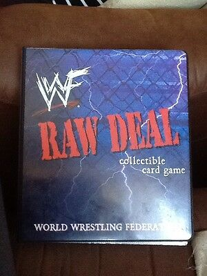 WWF WWE  Raw Deal Premiere Edition Ccg Complete 136 Card Set Plus Binder