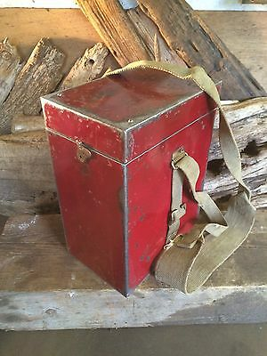 Vintage Old Steel And Brass Tool Box