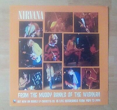 "NIRVANA  -Promotional 12"" x 12"" Card (Flat) FROM THE MUDDY BANKS OF THE WISHKAH"