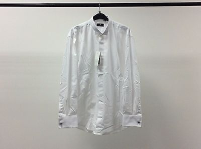 Mens White Wing Plain Dinner Tuxedo Formal Dress Shirt Size 15 1/2 - 2A202