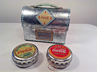 Coca Cola Collectibles-Lunch Pail And Tree Ornaments-Retro-Christmas-Xmas