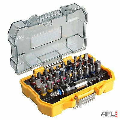 32 Piece Dewalt DT7969MQZ Colour Coded Screwdriver Bit Set PH Pozi Torx Slot Hex