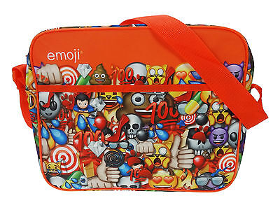 Childrens - Emoji Courier Messenger Despatch Bag School Bag