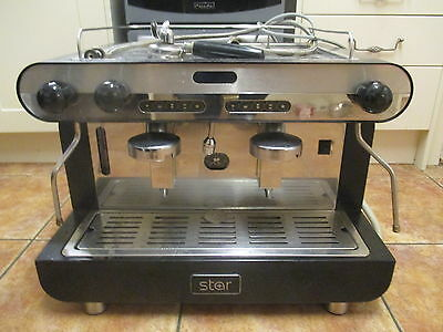 Star 2 Group Commercial Coffee Machine Cafe Restaurant Expresso Stainless Steel