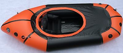 Packraft - New ultralight pack raft with spray deck & skirt. Touring Whitewater