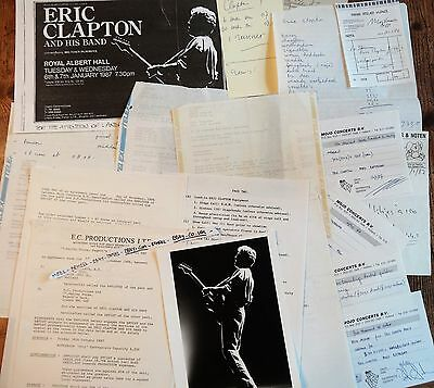 UNIQUE  Archive Concert Stuff             ** ERIC CLAPTON**         1987-holland