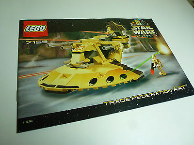 LEGO Star Wars INSTRUCTIONS ONLY Trade Federation AAT 7155
