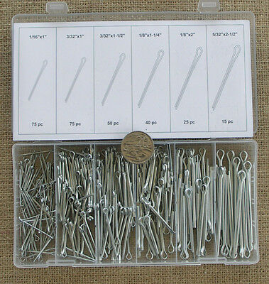 SPLIT PIN / COTTER PIN KIT 280Pce ZINC PLATED STEEL ASSORTED SIZES