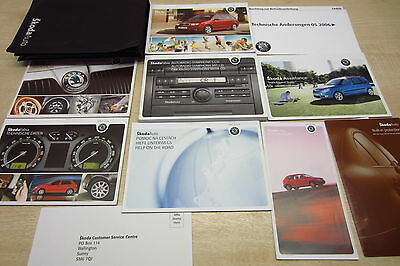 SKODA FABIA 2000-2007 Owners Manual Handbook + Service Book GERMAN WRITTEN BOOK