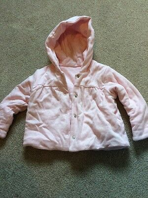 M&S Marks And Spencer Girl's Coat. 6-9 Months Pink
